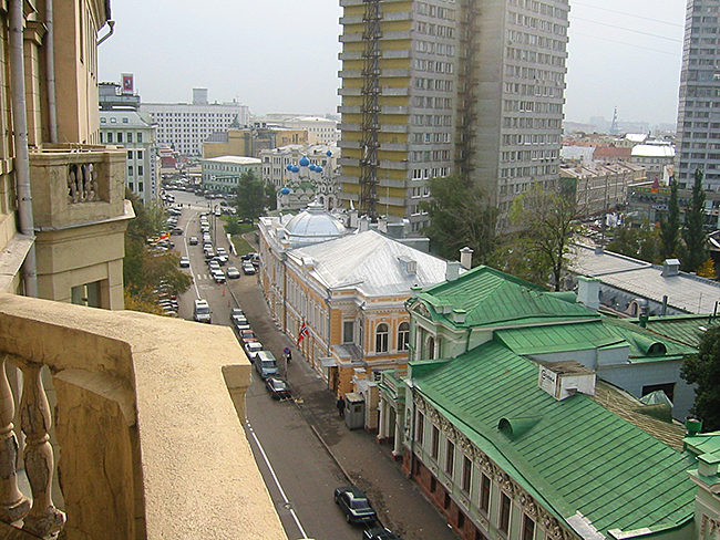 View on Povarskaya Street from the balcony.JPG