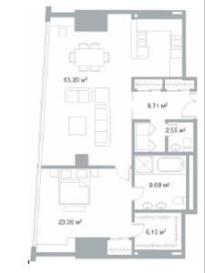 Удобная функциональная планировка в апартаментах в ЖК Город Столиц